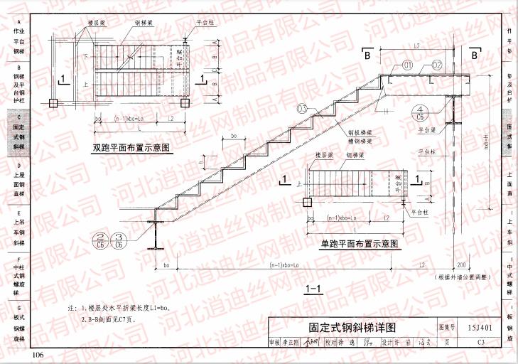 固定式钢斜梯